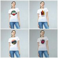 Women Devil Series Print T-shirts Tops Tee Fashion Short Sleeve Female Casual
