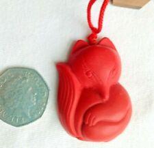 China Red Organic Cinnabar carve Buddha pendant necklace Making jewelry D36