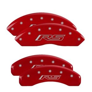 MGP Caliper Covers Engraved Front & Rear for 16-19 Camaro 3.6L Red