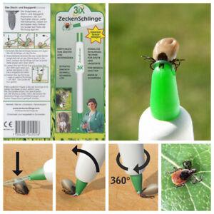 3ix® Zeckenschlinge - Die Alternative zu Zeckenzange Zeckenpinzette Zeckenhaken