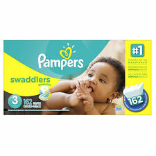 Pampers Swaddlers Baby Diapers, Sz 3 and LUVS 92 count Sz 3 254 total diapers!