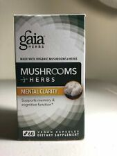 Gaia Herbs Mushrooms + Herbs Mental Clarity 60 vegan capsules