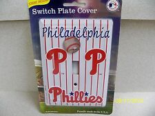 MLB licensed Philadelphia Phillies baseball single metal light switch cover NEW!