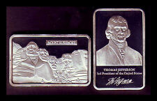 ★★★★★ JOLI MEDAILLE PLAQUEE ARGENT ● USA ● MT RUSHMORE PRESIDENT JEFFERSON ★★★★
