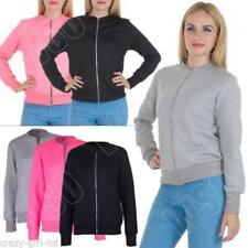 Polyester Patternless Quilted Coats & Jackets for Women