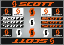 SCOTT PRINTED BIKE FRAME STICKERS DECALS SHEET BICYCLE CYCLING ORANGE