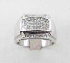 Men's Diamond Ring 14K White Gold Size 11  1.30 carat