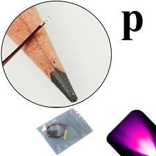 5 x 12v 0402 1005 Pink Pico SMD LED Pre-Wired Light Soldered Leads 9v 18v 6v