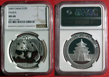 2009 Chinese Silver Panda 1oz .999 Bullion Coin. NGC MS 68.