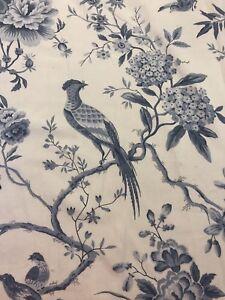 REMNANT Off Cut Sanderson Fabric Curtain Blind Cushion 135x80cm Pillemout Toile