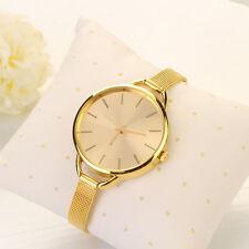 Gold Girls Women Ladies Analog Stainless Quartz Bracelet Wrist Watch