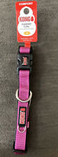 New With Tags Kong Maroon Medium Comfort Padded Dog Collar Neck Size 14�-20�