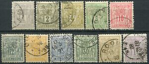 (858) 11 VERY GOOD LIGHTLY USED 1882 >  LUXEMBOURG TO 1f