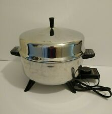 Vintage Farberware Pot-Pourri 5 Qt Electric Skillet Deep Fryer Model 320A WORKS!