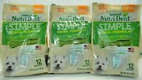 Nylabone Nutri Dent Natural, Small Size Dental Dog Chews - 3 Pack, 12 Count Each