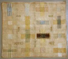 1822 Antique Silk On Linen Darning Sampler 12 Year Old Dutch Girl Needlework