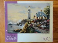 2007 Mega The Puzzle Collection LIGHTHOUSE COTTAGE 750 Piece Jigsaw Puzzle