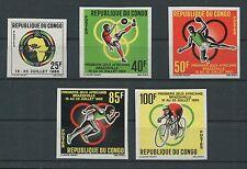 CONGO AFRIKA-SPIELE 1965 UNGEZÄHNT SPORT SPORTS IMPERF NON DENTELE RARE h1262