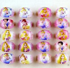 10x Princess Girls Kids Children Resin Lucite Rings Party Bag Fillers Gifts