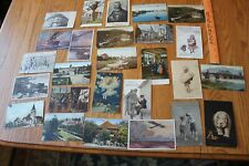 Old German Postcard Lot of Unique card Vintage EARLY 1900s & WWI era with stamps