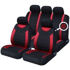 Red Full Set Front & Rear Car Seat Covers Land Rover Range Rover Evoque 11-On