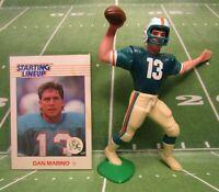 1988  DAN MARINO - Starting Lineup Football Figure & Card - MIAMI DOLPHINS