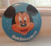 Mickey Mouse Walt Disney World Large 2.75 inch Blue Vintage Button Pinback