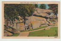 Unused Postcard Devils Den Ledge Gettysburg Pennsylvania PA Civil War