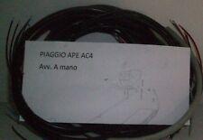 IMPIANTO ELETTRICO ELECTRICAL WIRING APE AC4 AVVIAMENTO A MANO+SCHEMA ELETTRICO