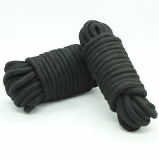 Black soft cotton restraint rope 5 metres long. Fancy dress........