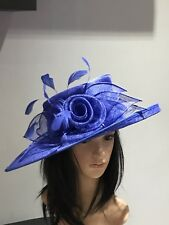 NIGEL RAYMENT ROYAL BLUE WEDDING ASCOT HAT  MOTHER OF THE BRIDE