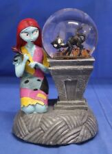 Nightmare Before Christmas Sally & Black Cat Light up Musical Snowglobe