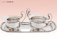 """Set """"Milch & Zucker Silber"""" auf Tablett England um 1910-1918"""