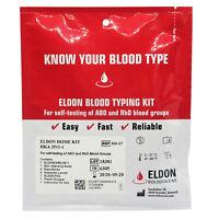 1 x Blood Type Test Kit - Group Tests  - Eldoncard Testing - A,B,O,AB & RHESUS D