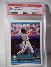 1992 Donruss Jeff Bagwell RC PSA NM-MT 8 Baseball Card #358 MLB Collectible