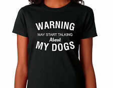 "DOG T SHIRT adatto per il tedesco Shepard, CARLINO, Terriers-Cani sciolti, Labrador proprietari ""Avvertenza"""