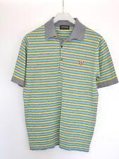 John Smedley Camisa Polo (M) – Jaybird Colección Gris/Amarillo/Azul