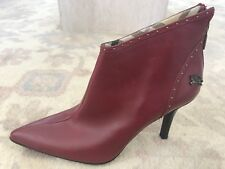 NOT A PAIR FABULOUS BURBERRY RED LEATHER WOMEN ZIP BOOT ITALY LEFT SHOE ONLY 36