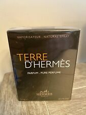 TERRE D'HERMES by Hermes 2.5 oz PURE PARFUM SPRAY SEALED & NEW in Box for Men