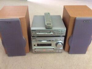 SONY Minidisc System (DHC-MD333 &TC-TX333) Complete Mini CD Hi-Fi Set Up