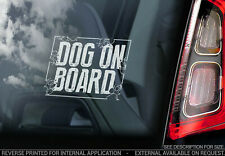 Dog on Board - Car Window Sticker - GSD Collie Terrier Sign Art Gift Decal - V02