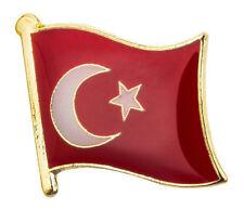 TURKEY - Flag Pin Badge  High Quality Gloss Enamel - Türk bayrağı
