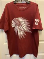Vans T-shirt Classic-Fit unisex Indian skull head Wine/White Logo 66 size medium