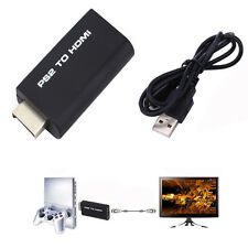 PS2 to HDMI Cable Converter Adapter with 3.5mm Audio Output for HDTV Monitor