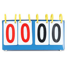 Portable 4 Digit Scoreboard Sports Flip Score Board Basketball Scorer Tennis ED