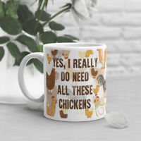 Funny Chicken Coffee Mug, Pet Chicken Lover, Cute, Gift For Her, Him, Hen Cup