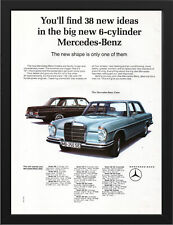 "1965 MERCEDES BENZ 250 SE W108 AD A3 FRAMED PHOTOGRAPHIC PRINT 15.7""x11.8"""