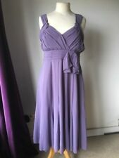 Mauve Cocktail Evening Prom Dress Bridesmaid CCDK Size 12 Ruched
