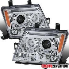 For 2005-2012 Nissan Xterra Clear LED Halo Rims Projector Headlights Lamps Pair