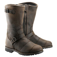 Belstaff Endurance Brown Motorcycle Full Grain Buffalo Leather Boots | All Sizes